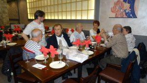 Au restaurant avec Christian et d'autres karatékas